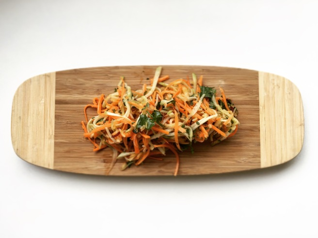 Chayote, Apple, and Carrot Slaw