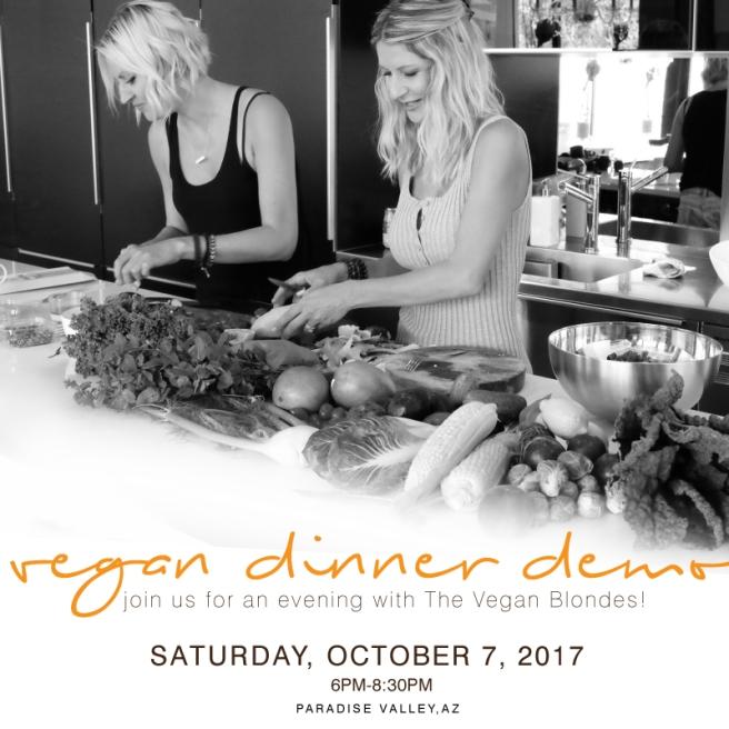 Vegan Dinner Demo October 7 | veganblondes.com