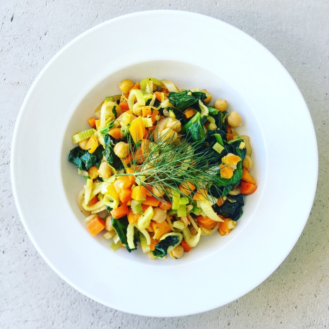 Fennel, Carrot, and Chickpea Fricassée | veganblonde.com